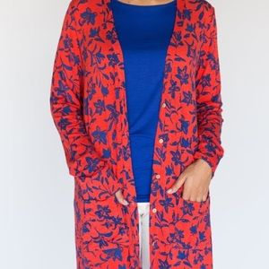 ***New*** Red and Blue Floral Favorite Cardi